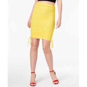 Material Girl Junior Ruched Pencil Skirt Dandelion